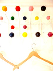 a lot of dots (tsaaby) Tags: colours shadows hanging dots eames dutter skygge farver skygger knage bjle
