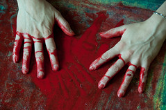 Les mains sales-33 (metatong) Tags: red color painting rouge blood hands acrylic hand main peinture killer murder dexter sang mains guilty murderer coupable acrylique tueur d300 redpaint meurtre meurtrier peinturerouge