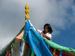 Hanging Prayer-flags (tsemdo.thar) Tags: prayer culture flags tibet amdo tibetan prayerflags qinghai   karmathang