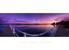 Jetty Dawn - Primbee (fischstarr) Tags: pink blue lake sunrise reflections landscape dawn still nikon pano jetty tripod sigma x wharf nd 1020mm filters grad 154 illawarra cokin wpm 121s d40x primbee