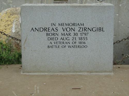 Andreas Von Zirngibl Gravesite
