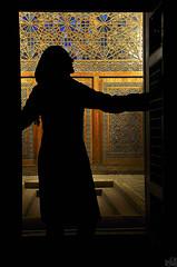(DeLaRam.) Tags: girl look silhouette iran yazd    iranianarchitecture