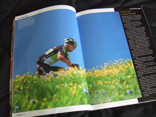 Spread in Mountain Flyer Magazine