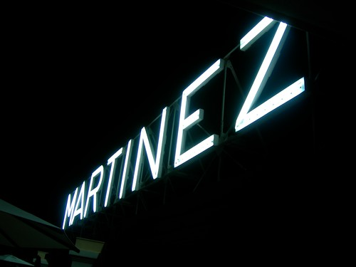 Martinez sign from my room
