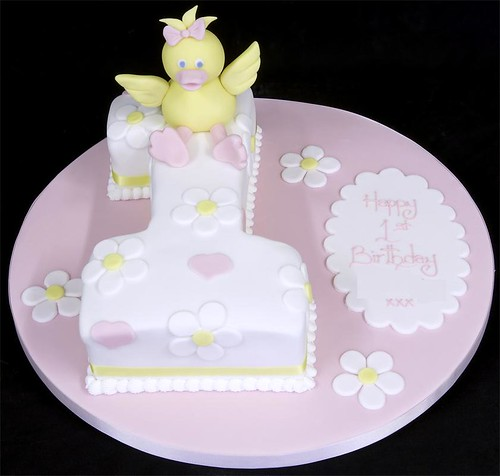 002628 Little Duck 1st Birthday Cake