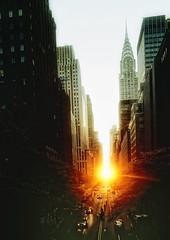Manhattanhenge (mudpig) Tags: nyc newyorkcity sunset newyork geotagged nikon raw manhattan stonehenge chryslerbuilding eastside hdr manhattanhenge 42ndstreet murrayhill tudorcity coolpix8700 mudpig stevekelley