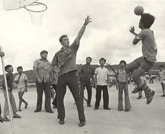 Playing Basketball in Asan, 1970s