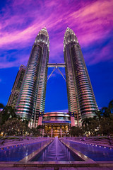 purple haze (skimvision) Tags: sunset tower clouds purple petronas twin malaysia kualalumpur