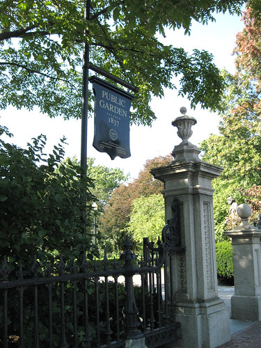 Entrance to the Public Garden.