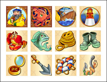 free Sea Captain slot game symbols