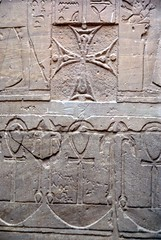 Reminder from the Christian Era (p medved) Tags: temple cross egypt egipto ankh aswan gypten templo egitto hieroglyphics egypte egito tempel egypten templom tempio tapnak hram egipt misr misir chrm tempelj templu egipat egyptus