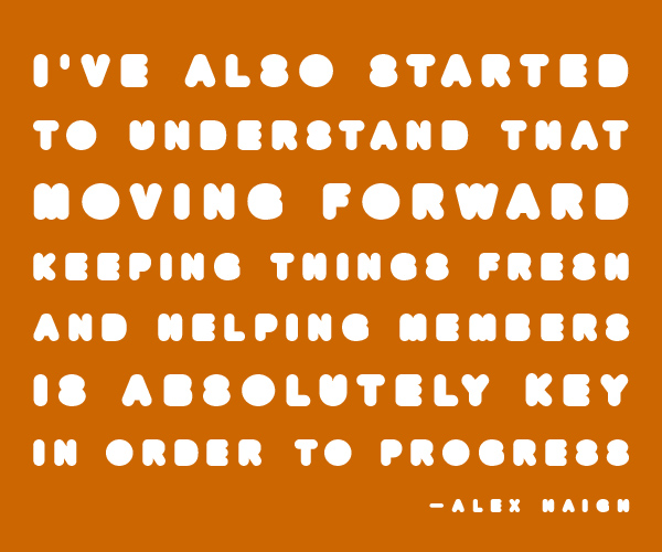 Alex Haigh quote