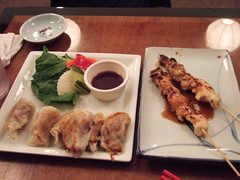 Tono Gyoza and Chicken Yakitori