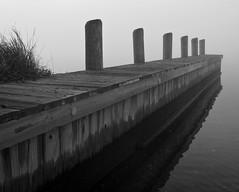 Foggy Solomons Island Pier 1