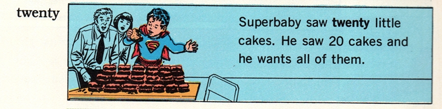 (Superbaby saw TWENTY little cakes. He saw twenty cakes and he wants all of them.)