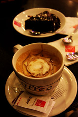 Coffe of the Day (Falling Dreams) Tags: friends light reflection cake shop canon evening cafe friend flickr shine bokeh explore desi dreams looks 40 hyderabad coffe  shining 2009 pleasure hpc    colourfull   hyderabadi explored   40d iranianphotographer  coffeday   canon40d  fallingdreams  flickrlovers  40
