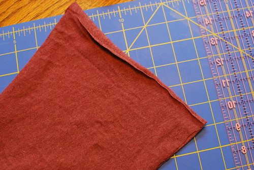 Place the two pieces right sides together and sew