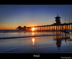 Wish (kennymuz) Tags: ocean thanksgiving sunset 3 beach silhouette sens pier long heaven surf dream best wish huntingtonbeach hdr cpl exposures 06nd wideangle1022mm canoneosxsi450d kennymuz