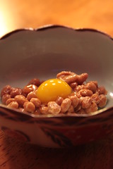 natto and quail egg
