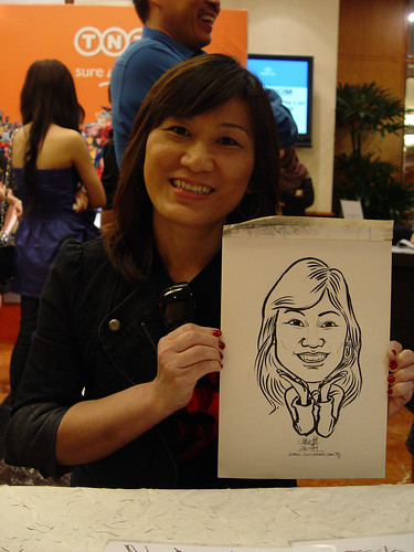 Caricature live sketching TNT Express Worldwide D&D 2009 - 2