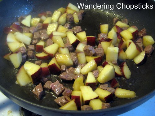 Fried Rice with Apples and Beef 4