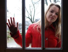 Twenty Two (LillyWild) Tags: door rain self raincoat 365days