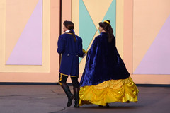 Belle and Adam take a stroll before the parade