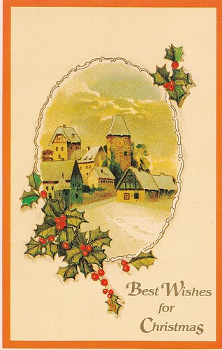 Best Wishes for Christmas Postcard