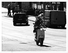 ... 'cause I'm a rocketman! #photog (mescon) Tags: street city bw white black john göteborg photography town nikon sweden gothenburg scooter stan gata sverige nikkor kangas moped stad väg 80200 vitt svart 031 d300 svartvit vit svartvitt skoter flickrwalk moppe blackwhitephotos