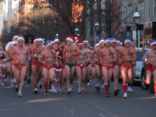 Photo: Men Running in Speedos