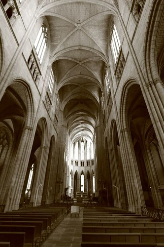 Inside Limoges Cathedral.