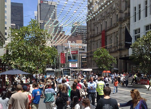 Bourke St at Christmas time