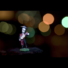 the mariachi. (Vitaliy P.) Tags: lighting bridge light musician macro brooklyn night project dead skeleton death book nikon shot bokeh micro williamsburg mariachi year2 365 60mm ghetto month9 project365 d80 vitaliyp