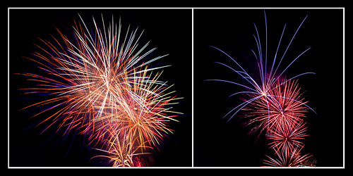 Penrith Panthers Fireworks 2009 - Diptych II