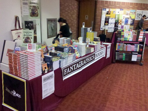 Fantagraphics table at TCAF 2011