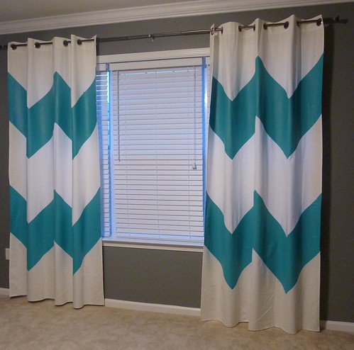 Painted Chevron Curtains 2
