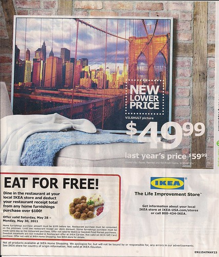 May 2011 Ikea Brooklyn Bridge Print Ad