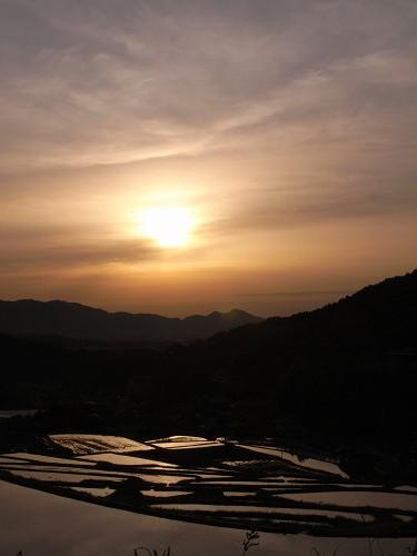 飛鳥の夕日(細川の棚田)-03