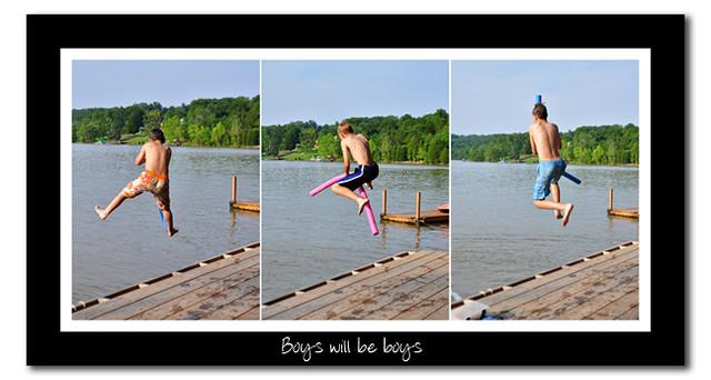 boys triptych