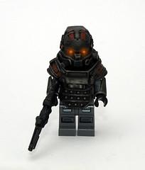 Killzone LMG Trooper (JasBrick) Tags: lego hazel minifig custom helghast killzone