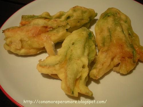 fiori di zucchina in pastella