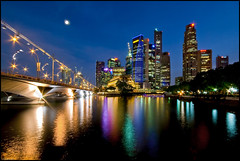 Once in a Blue Moon (Souvik_Prometure) Tags: marina singapore cbd rafflesplace raffles centralbusinessdistrict marinabay sigma1020mm nikond80 souvikbhattacharya
