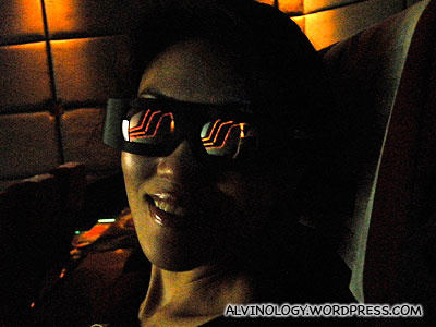 Rachel in 3D glasses