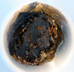 Planet Lion's Head (daytime) - notes welcome (Blyzz) Tags: ocean shadow sea sky panorama cloud mountain photoshop big top edited pano peak panoramic fullmoon summit polar beacon tablemountain lionshead signalhill campsbay seapoint 360 devilspeak altantic autopano citybowl kloofnek miniplanet