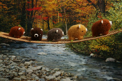 Bears over troubled water (TADA's Revolution) Tags: bear bridge miniature handmade oneofakind ooak crochet craft plush softie stuffedanimal kawaii amigurumi diorama crafting fourlegged  whipupcalendar2010