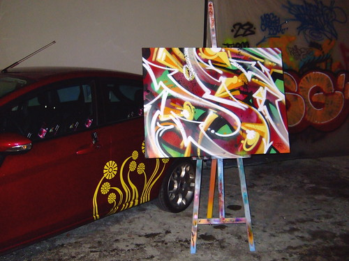 ford fiesta miami atomik graffiti painting transit lounge