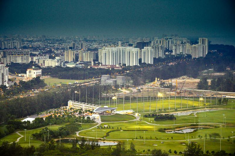 Сингапур вид на жилые кварталы