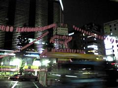 恵比寿駅前には明日からの盆踊りの矢倉なう