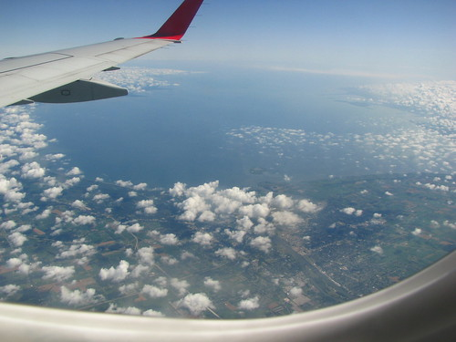 Saginaw Bay from the air