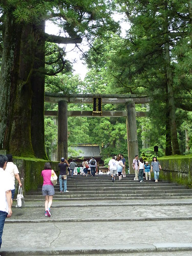 Tori entrada temple tomba Nikko